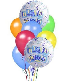 Baby Boy Balloon Bouquet in Port Charlotte FL, Port Charlotte Florist