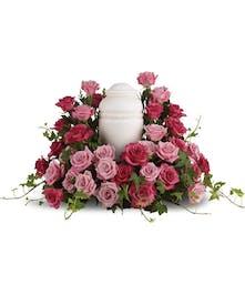 Cremation Bed of Pink Roses | North Port, Port Charlotte, Punta Gorda Funeral Flowers