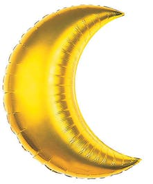 Extra Large Gold Crescent Moon Mylar Balloon in Port Charlotte, FL
