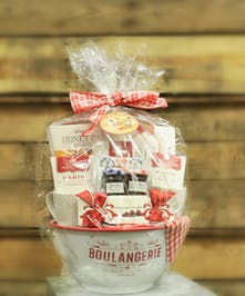 A gourmet baking set with keepsake mixing bowl, mugs and more!    Best Gift Baskets in Port Charlotte