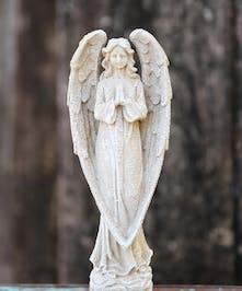 Stonecast Resin Praying Angel in Port Charlotte FL, Port Charlotte Florist