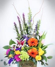 Vibrant Garden Flower Box | Port Charlotte Florist | Port Charlotte, Florida