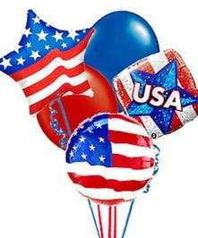 Patriotic Balloon Bouquet in Port Charlotte FL, Port Charlotte Florist