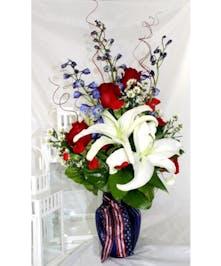 Patriotic Parade Bouquet in Port Charlotte FL, Port Charlotte Florist