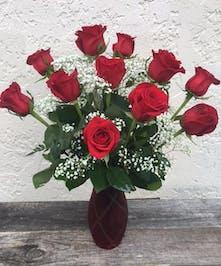 Red Roses with Keepsake Vase | North Port Flower Shop