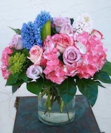 Shades of Spring | Spring flower arrangement | Port Charlotte Florist