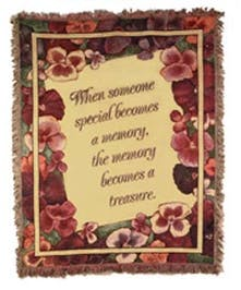 Someone Becomes A Memory Tapestry Throw Port Charlotte, Florida