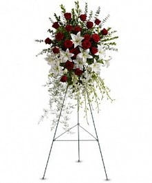 Lily and Rose Tribute Spray in Port Charlotte FL, Port Charlotte Florist