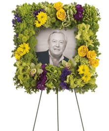 Funeral Picture Wreath | Port Charlotte Sympathy Flowers
