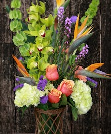 Tropical Memories Gathering Vase | Port Charlotte Florist | Port Charlotte, Florida