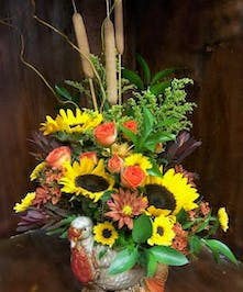 Beautiful keepsake turkey container | North Port's Best Flower Shop