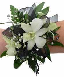 Modern Orchid Wrist Corsage For Homecoming & Prom