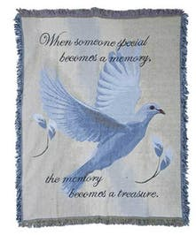 White Dove Tapestry Throw- Port Charlotte, Florida