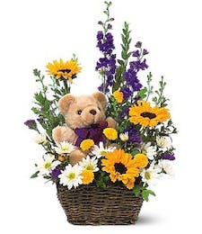 Basket and Bear Arrangement